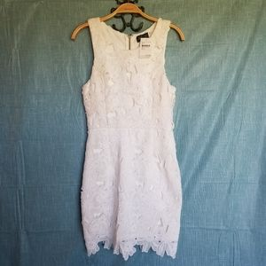 NWT ASTR White Lace Floral Dress